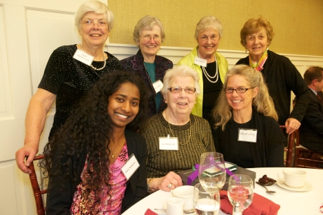Ann Bielawski with friends from Charlotte Congregational Church