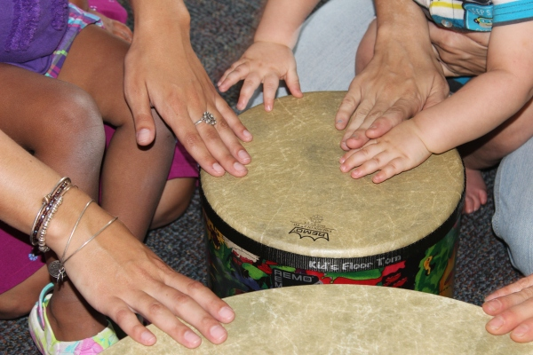 Feeling the rhythm through fingers, hands and arms.