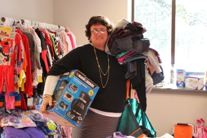 Our Director of Adoption, Wanda, Audette, picks out gifts for children in foster care waiting for forever families.