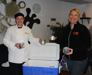 Heather Newcomb of FRESH food and Jen D'Aiello, of Lund at Glen Road.