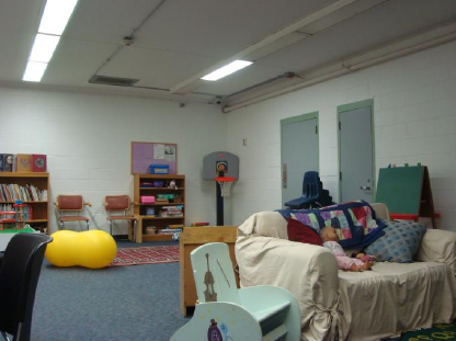 The Kids-A-Part visiting room at CRCF.