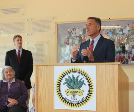 Governor Shumlin addresses the crowd