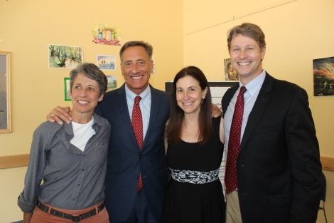 Executive Director of Vermont Works for Women, Tiff Bluemle, Governor Shumlin, Barbara Rachelson - Executive Director of Lund and Chris Curtis of Vermont Legal Aid.