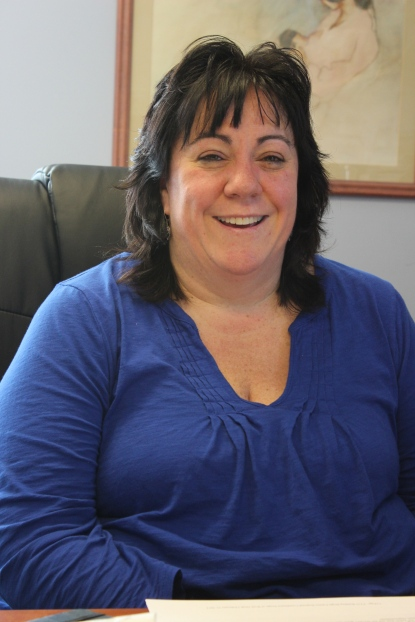 Kim Coe, in her office at Lund's Glen Road Residential Treatment Facility, Spring 2015
