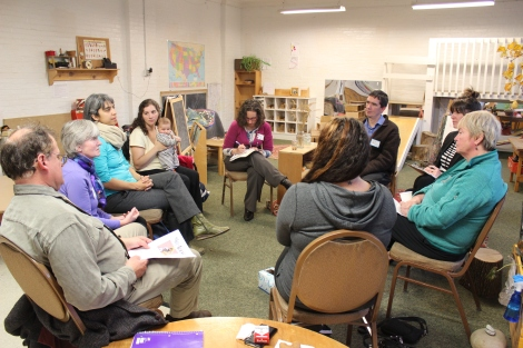 Parents, staff members, legislators and members of the community had lively discussion about the crucial role of Parent Child Centers in the community.